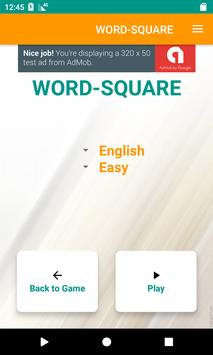 WORD SQUARE poster