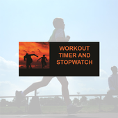 Workout stopwatch and timer icon