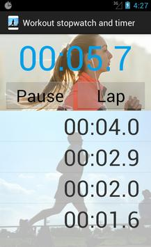 Workout stopwatch and timer screenshot 3