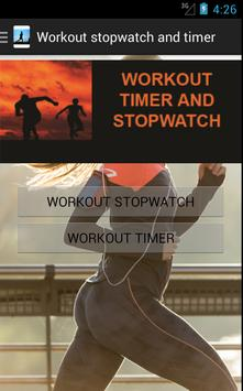 Workout stopwatch and timer poster