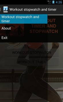 Workout stopwatch and timer screenshot 1