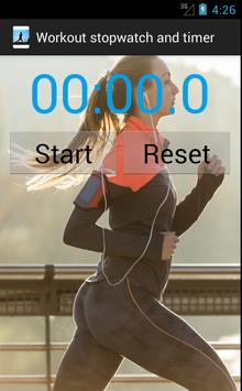 Workout stopwatch and timer screenshot 2