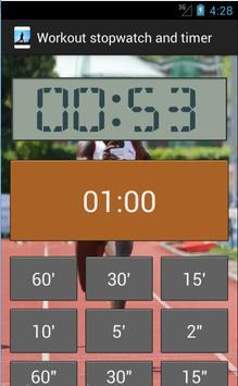 Workout stopwatch and timer screenshot 4