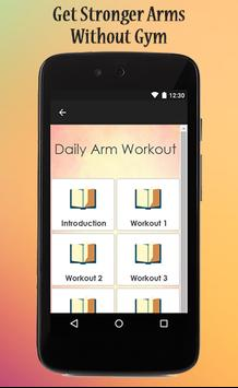 Daily Arm Workout Guide poster