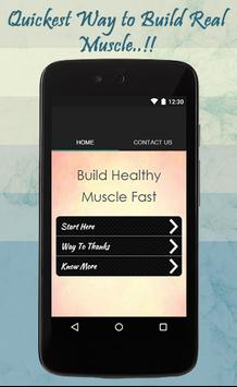 Build Healthy Muscles Fast poster