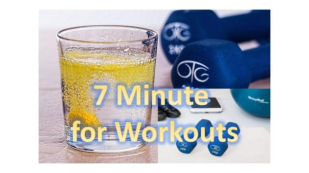 7 minutes for workout poster