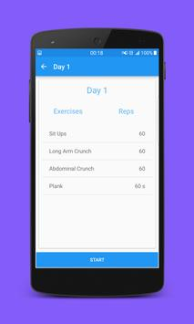 30 Day Abs Workout Challenge - How to get six pack screenshot 3
