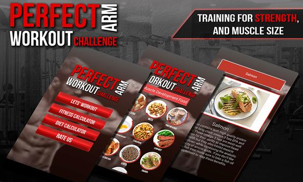 Perfect Arm workout challenge poster