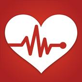 Heart Rate Monitor Pulse Checker:  BPM Tracker icon