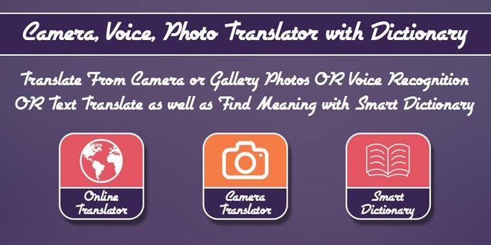 Camera, Voice, Photo Translator with Dictionary poster