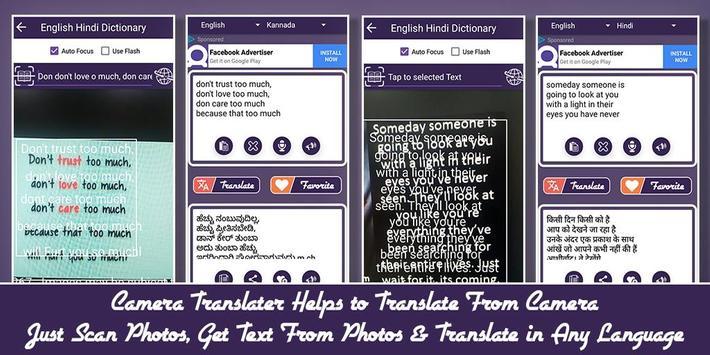 Camera, Voice, Photo Translator with Dictionary screenshot 3