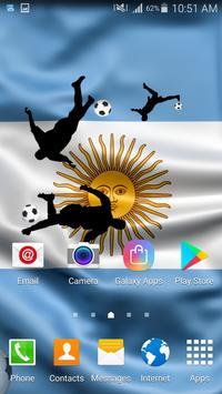 Argentina Football Live Wallpaper screenshot 1
