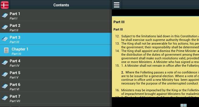 Constitution of Denmark screenshot 1