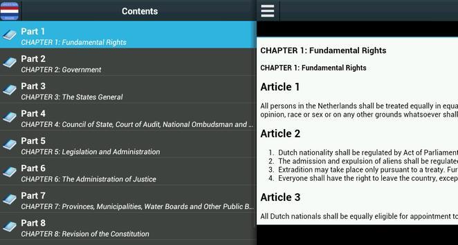 Constitution of Netherlands screenshot 1