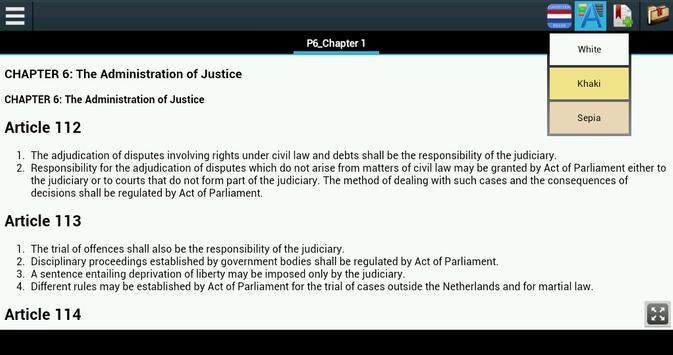 Constitution of Netherlands screenshot 2
