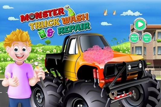 Monster Truck Wash & Repair poster