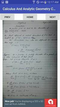 Chapter 2 - Calculus And Analytic Geometry B.Sc 1 apk screenshot
