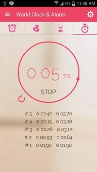 World Clock: Stop Watch, Timer, Alarm & Widget apk screenshot