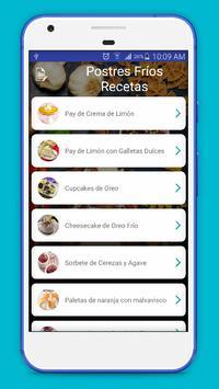 Recetas de postres Fríos 2017 screenshot 3