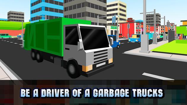 Cube Garbage Truck Simulator poster