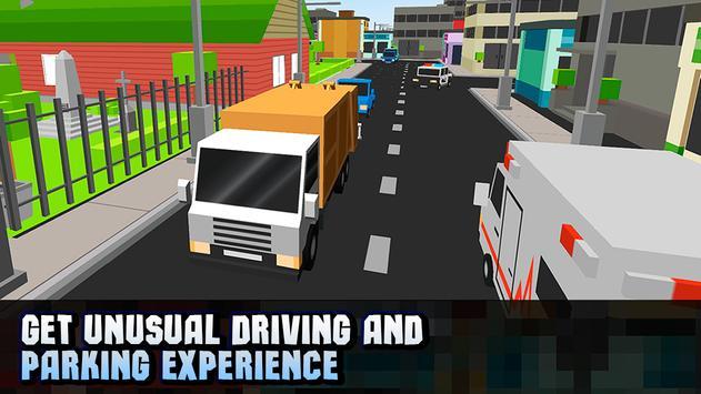 Cube Garbage Truck Simulator apk screenshot