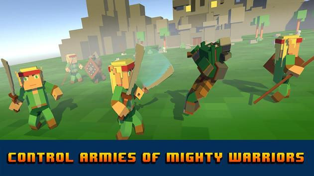 Blocky Troops Battle Simulator apk screenshot