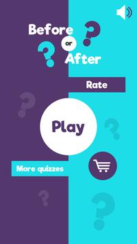 Before Or After? - Educational History Quiz Game poster