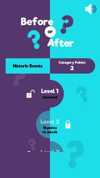 Before Or After? - Educational History Quiz Game screenshot 1