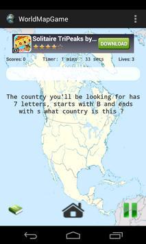 World map brain teaser descarga apk gratis educativos juego para world map brain teaser captura de pantalla de la apk gumiabroncs Images