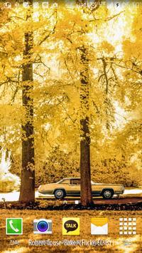 Yellow autumn wallpaper poster