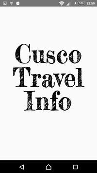 Cusco Travel Info poster