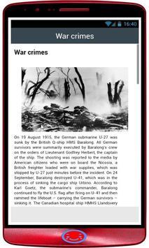 World War I History apk screenshot