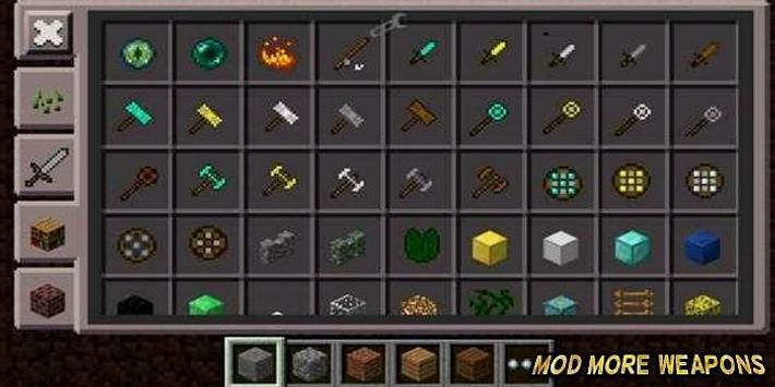 Mod More Weapons For MCPE screenshot 1