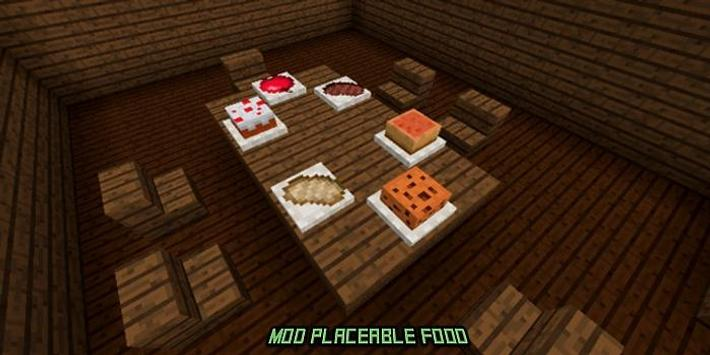 Mod Placeable Food for MCPE poster