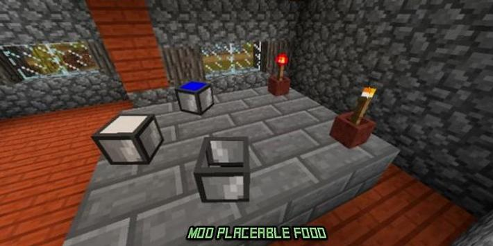 Mod Placeable Food for MCPE screenshot 1