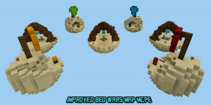 Improved Bed Wars Map MCPE poster