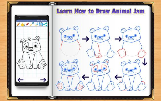 Learn How to Draw Animal Jam poster