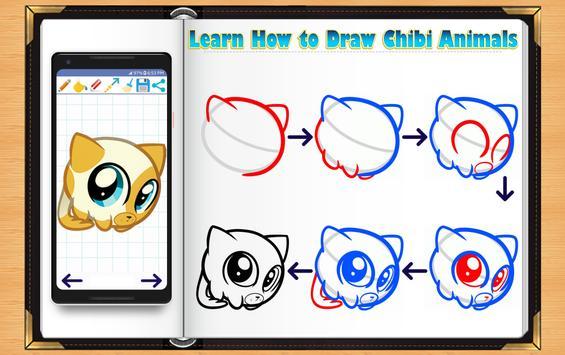 Learn How to Draw Chibi Animals screenshot 5