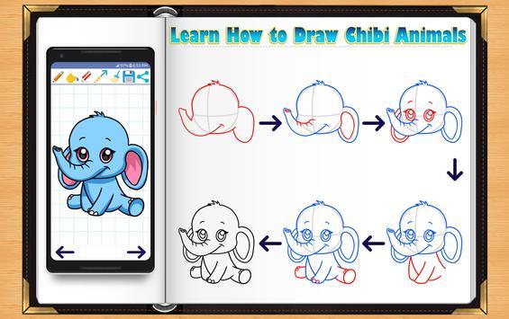Learn How to Draw Chibi Animals screenshot 8