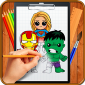 Learn How to Draw Chibi Super Heroes icon