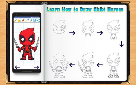 Learn How to Draw Chibi Super Heroes screenshot 4