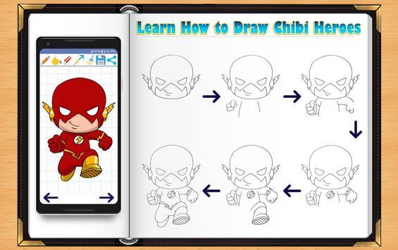 Learn How to Draw Chibi Super Heroes screenshot 5