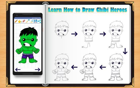 Learn How to Draw Chibi Super Heroes screenshot 7