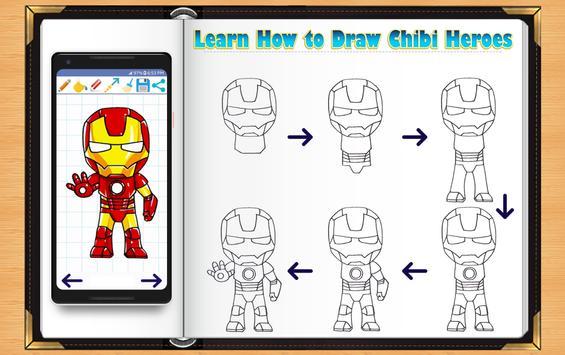 Learn How to Draw Chibi Super Heroes screenshot 8