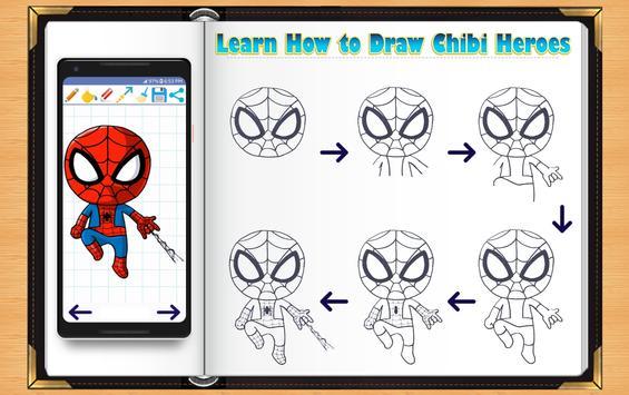 Learn How to Draw Chibi Super Heroes screenshot 9