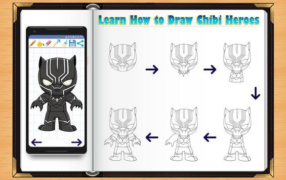 Learn How to Draw Chibi Super Heroes screenshot 13