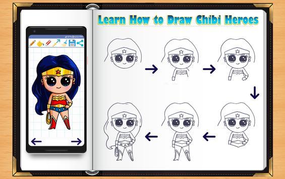 Learn How to Draw Chibi Super Heroes screenshot 3