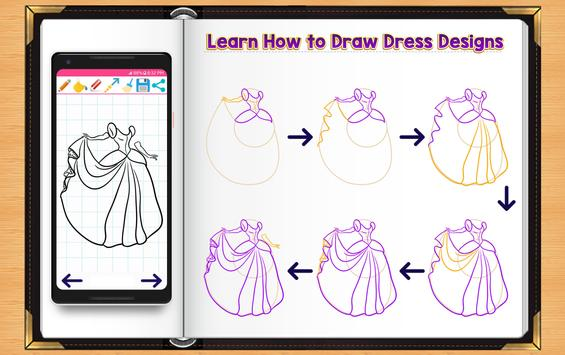 Learn How to Draw Dresses screenshot 7