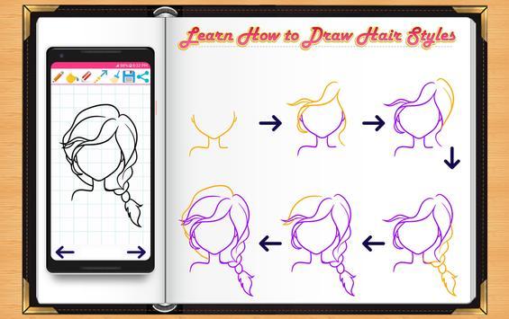 Learn How to Draw Hairs apk screenshot