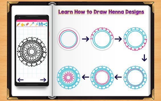 Learn How to Draw Henna Tattoo Designs screenshot 1
